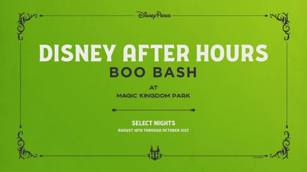 Disney After Hours Boo Bash at Magic Kingdom